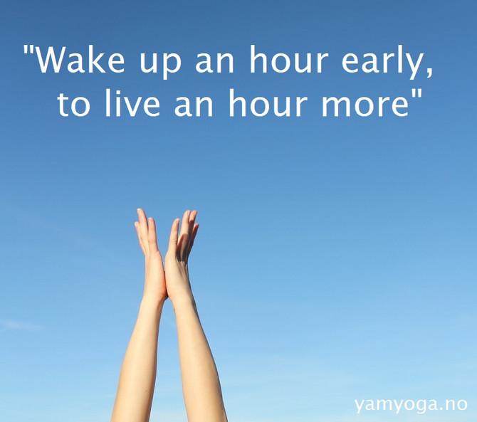 Å starte dagen med Yoga