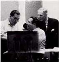 Mantovani with Frank Lee of Decca Records