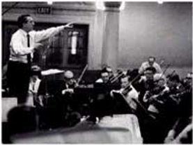 Mantovani conducting his orchestra