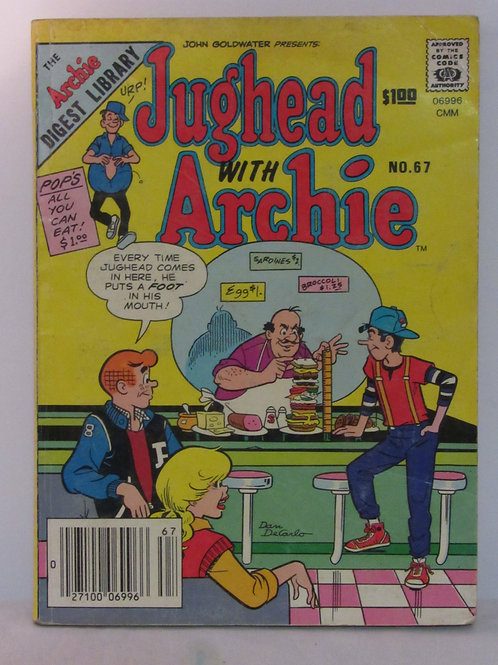 Jughead With Archie Comics DIGEST Library No. 67 Mar 85 F - VF