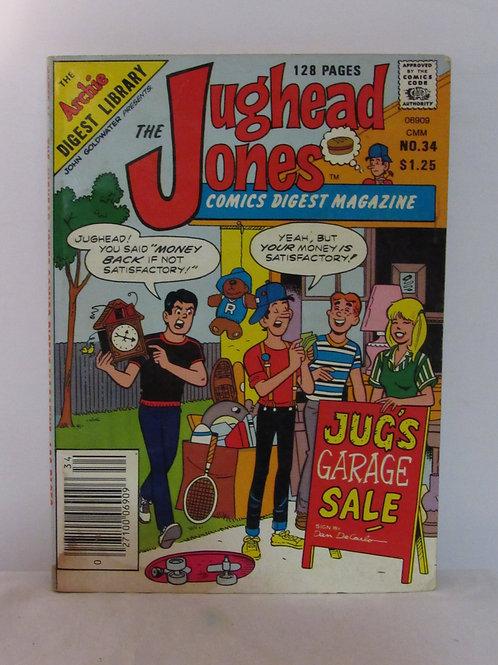 Jughead Jones Comic Digest Magazine #34 Aug 1985 VF
