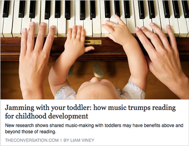 Shared Music Making at home is an important asset to child development