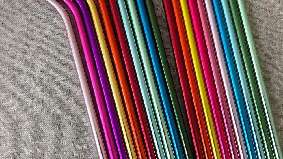 Canudo de alumínio várias cores