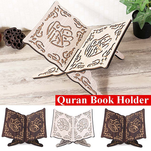 3 Colors Quran Muslim Wooden Book Stand Holder Decorative Shelf