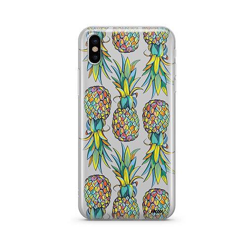 Hawaiian Pineapple iPhone & Samsung Clear Phone Case Cover