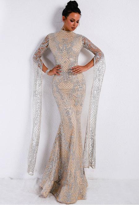 High Neck Evening Gown