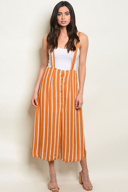 Mustard Stripes Overall