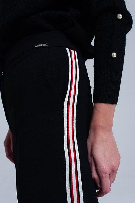 Black Pants With Stripe Detail