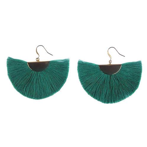 Half Moon Fan Earrings