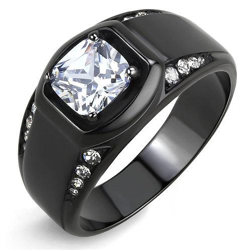 TK3467 IP Black(Ion Plating) Stainless Steel Ring