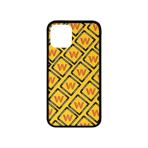 Yellow Wakerlook Laser Style Rubber Case for Iphone 11 Pro
