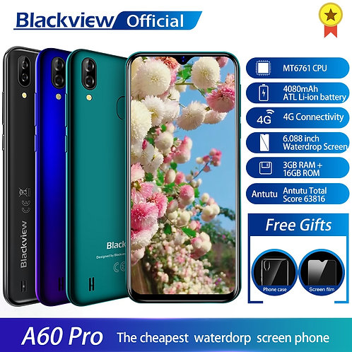 Blackview A60 Pro Smartphone MTK6761 Quad Core Android 9.0 4080mAh