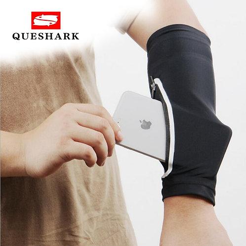 Queshark Sport Pocket Arm Warmer Phone Armband Bag Hiking