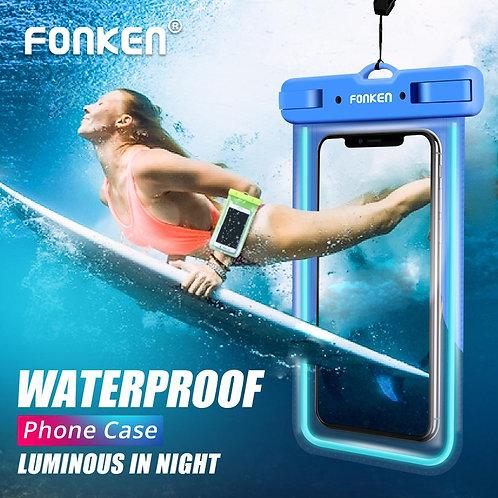 Luminous Waterproof Case for Phone IPX8 Waterproof Phone Bag Underwater