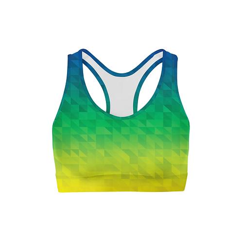 Beach Triangles Back Color Sports Bra