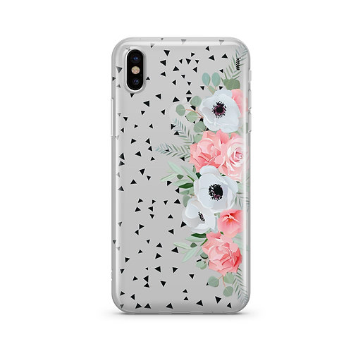 Anemone Rose iPhone & Samsung Clear Phone Case Cover
