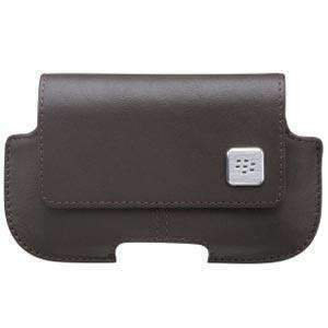 RIM (OEM) BlackBerry® Leather Horizontal Pouch - Dark Brown for