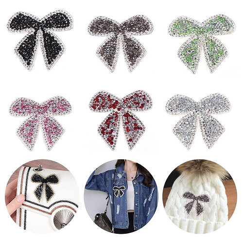 1PC Rhinestone Iron On Patches For Clothes