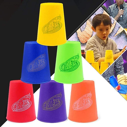6 PCS Mixed Colors Quick Stack Cup II Speed Training Sports Stacking