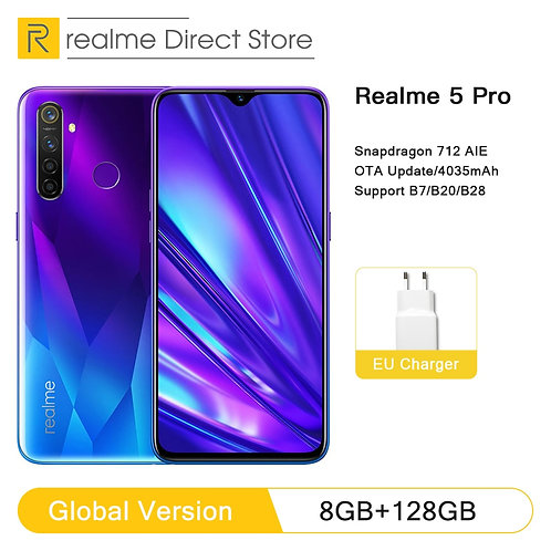 Global Version Realme 5 Pro 4GB RAM 128GB Mobile Phone