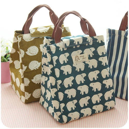 Female Lunch Food Box Bag Fashion Insulated Thermal Food
