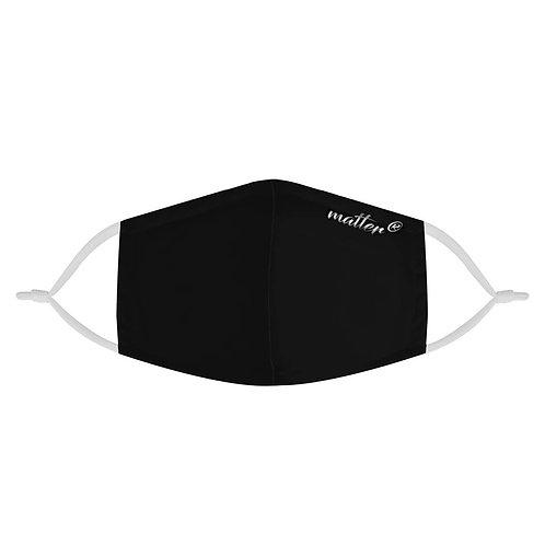 Solid Black Matter Mask | Fashion Face Mask