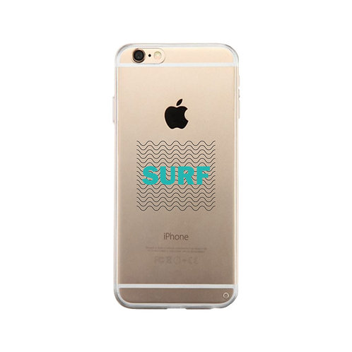 Surf Waves Clear Phone Case