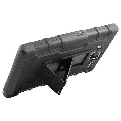 Premium Hybrid Kickstand With Holster Clip - Black/ Black for Samsung
