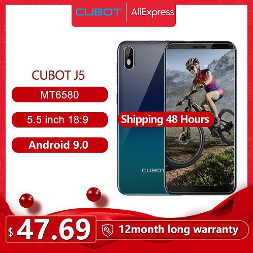 "Cubot J5 Smartphone 5.5"" 18:9 Full Screen MT6580"