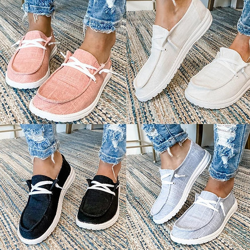 2020 New Women Shoes Sneakers Canvas Flats Large Size Women Fashion