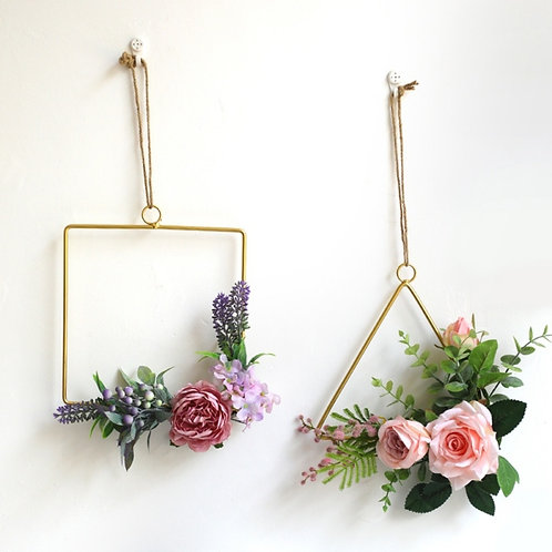Gold Geometric Hanging Decorations
