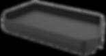 Tablett für Rollator Birkenrot