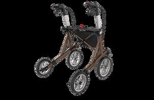 Birkenrot Outdoor Rollator für Kieswege