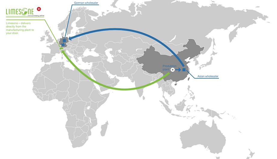 Limesone produziert in China