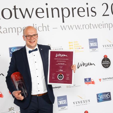 1. Platz VINUM Deutscher Rotweinpreis 2017