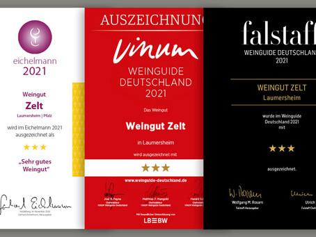 Unsere neuen Referenzen bei Eichelmann, VINUM & Falstaff
