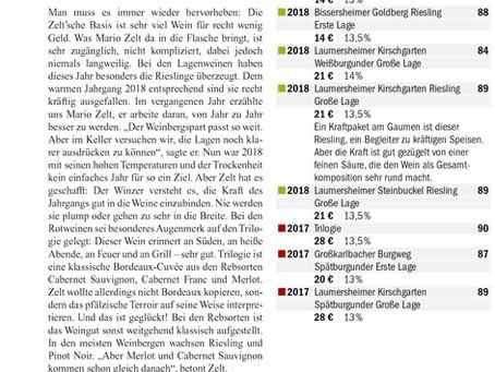 Aktuelle Referenzen Eichelmann, Feinschmecker, VINUM & Gault-Millau