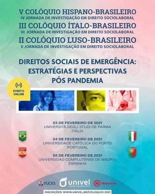 II Colóquio Luso-Brasileiro na Universidade Católica de Porto em Portugal: