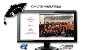 """Formatura programa """"Cidadania e talento com"""" (CIEE-RS) em parceria com o Projeto """"Ami"""