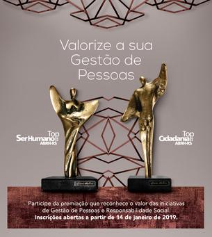 Prêmios Top Ser Humano e Top Cidadania de 2019 - ABRH-RS