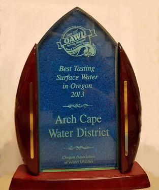 2013 Best Tasting Surface Water Award