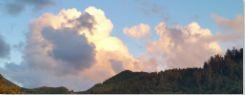 Angora Peak clouds in dapled ligt