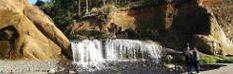 Hug Point Falls on the Pacific coastline