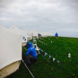 4mtr Bell tents overlooking the sea