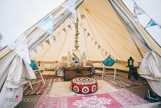5 meter Wedding Bridal Bell Tent Native Outdoors Bell Tent Hire