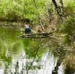 met de kano op eigen terrein