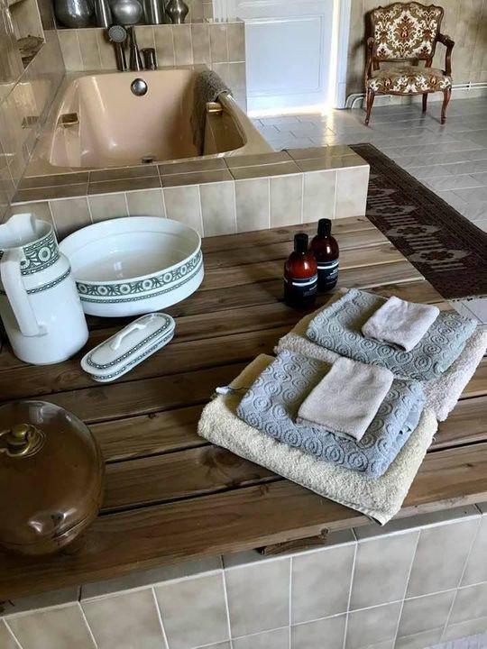 de tijd voor een lekker warm bad is aangebroken; klaar voor onze B&B gasten
