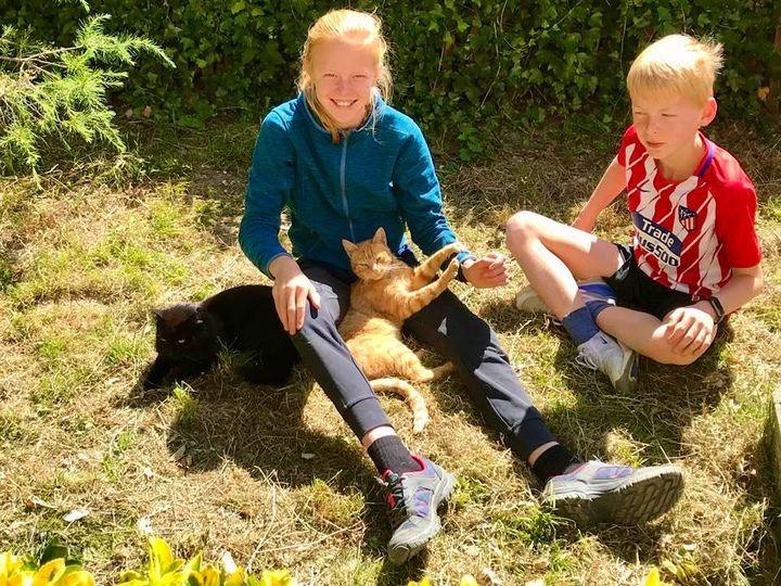 kinderen en onze katten; een groot succes