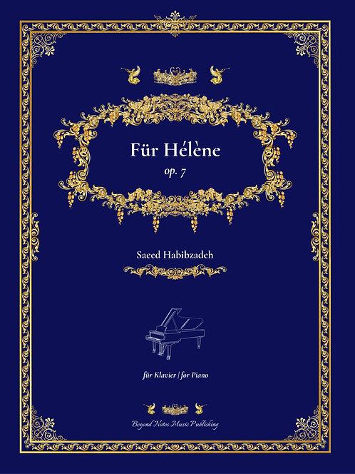 Beyond Notes Music Publishing_Saeed Habibzadeh_Für Hélène_Klavierwerk_Cover front