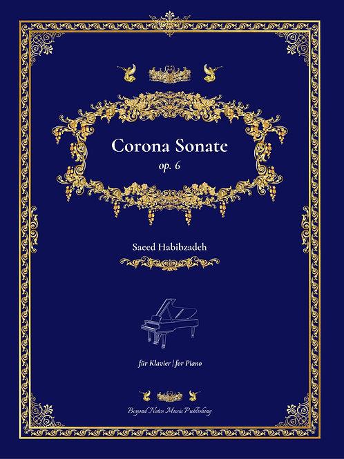 Beyond Notes Music Publishing_Saeed Habibzadeh_Corona Sonate_Klavierwerk_Cover front